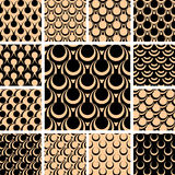 Seamless patterns set. Royalty Free Stock Photography