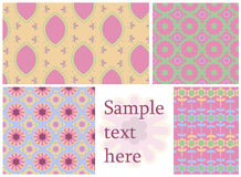 Seamless Patterns Set Royalty Free Stock Photography