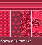 Seamless Patterns Set Stock Photos