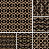 Seamless patterns set. Royalty Free Stock Photo