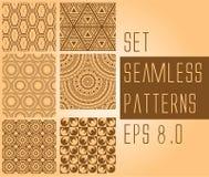 Seamless patterns set Royalty Free Stock Photo