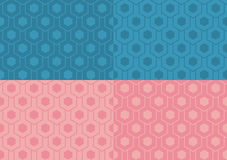 Seamless patterns set Stock Image