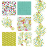 Seamless patterns set Stock Images