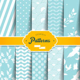Seamless Patterns Set Stock Images