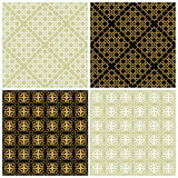 Seamless patterns set. Stock Photos