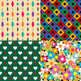 Seamless patterns. Set 3. Abstract colorful. Stock Images