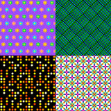 Seamless patterns. Set 2. Abstract colorful. Stock Photography