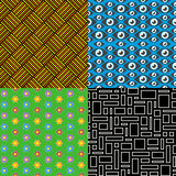 Seamless patterns. Set 7. Abstract colorful. Stock Photos