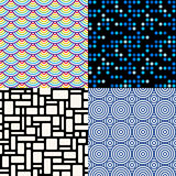Seamless patterns. Set 6. Abstract geometric. Stock Image
