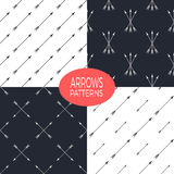 Seamless patterns set with arrows Stock Images