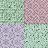 Seamless patterns set Royalty Free Stock Image