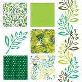Seamless patterns set Royalty Free Stock Images