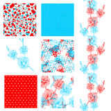 Seamless patterns set Royalty Free Stock Image
