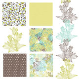 Seamless patterns set Stock Photography
