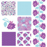 Seamless patterns set Royalty Free Stock Photos