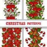 Seamless patterns set Royalty Free Stock Photos