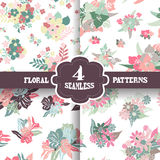Seamless patterns set Stock Photo