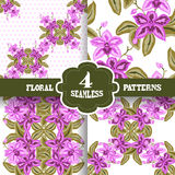 Seamless patterns set Stock Photos