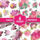 Seamless patterns set Royalty Free Stock Photography