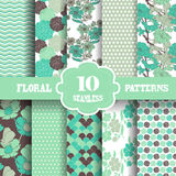 Seamless patterns set Stock Photography