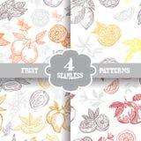 Seamless patterns set Royalty Free Stock Images