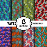 Seamless patterns set Stock Photo