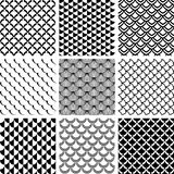 Seamless patterns set with fish scale motif. Royalty Free Stock Image