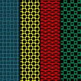 Seamless patterns. Set of four seamless patterns. Retro style Royalty Free Stock Image