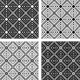 Seamless patterns set. Geometric textures. Royalty Free Stock Photo