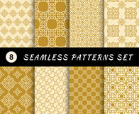 Seamless patterns set. Geometric textures Royalty Free Stock Image