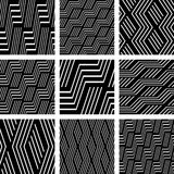 Seamless patterns set. Geometric textures. Stock Images