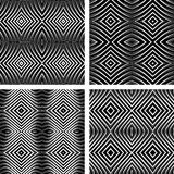 Seamless patterns set in op art design. Stock Photography