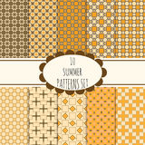 10 seamless patterns set Royalty Free Stock Images
