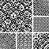 Seamless patterns set. Stock Image