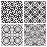 Seamless patterns set (vector) stock illustration