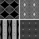 Seamless patterns set. Royalty Free Stock Image