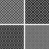 Seamless patterns set. Stock Photo