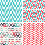 Seamless patterns set. Royalty Free Stock Images