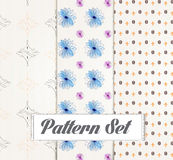 Seamless patterns set Royalty Free Stock Photo