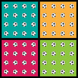 Seamless patterns with soccer balls Royalty Free Stock Photography