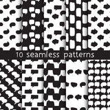 10 seamless patterns with speech bubbles, Pattern swatches. Beautiful vector design. Can be used for textile, website background, book cover, packaging Stock Images