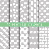 10 seamless patterns with speech bubbles, Pattern swatches. Beautiful vector design. Can be used for textile, website background, book cover, packaging Royalty Free Stock Photos