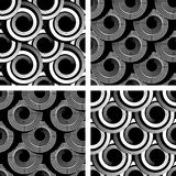 Seamless patterns with spiral elements. Stock Image