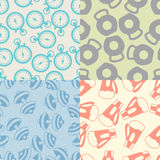Seamless patterns of sport icons Royalty Free Stock Images