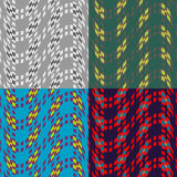 Seamless patterns of squares Stock Image
