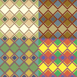 Seamless patterns with squares Royalty Free Stock Images