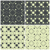 Seamless patterns with squares, vector illustration Stock Image