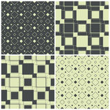 Seamless patterns with squares, vector illustration Royalty Free Stock Photos