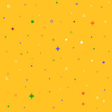 Seamless patterns with stars, rings, circles. Colorful hipster Royalty Free Stock Photography