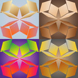 Seamless patterns stylized under glass Royalty Free Stock Images